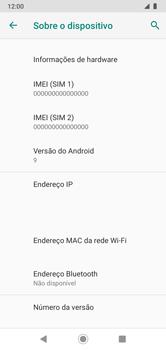 Como encontrar o número de IMEI do seu aparelho - Motorola Moto G7 Power - Passo 7