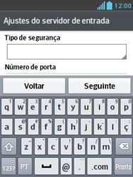 Como configurar seu celular para receber e enviar e-mails - LG Optimus L3 II - Passo 11