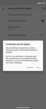 Como definir um aviso e limite de uso de dados - Motorola Moto G 5G Plus - Passo 12