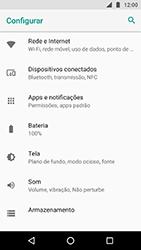 Como ativar e desativar uma rede de dados - Motorola Moto X4 - Passo 3