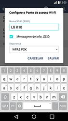Como usar seu aparelho como um roteador de rede Wi-Fi - LG K10 - Passo 6
