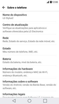 Como encontrar o número de IMEI do seu aparelho - LG G5 Stylus - Passo 4
