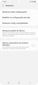 Como restaurar as configurações originais do seu aparelho - Samsung Galaxy S21 Ultra 5G - Passo 6