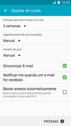Como configurar seu celular para receber e enviar e-mails - Samsung Galaxy S IV - Passo 7