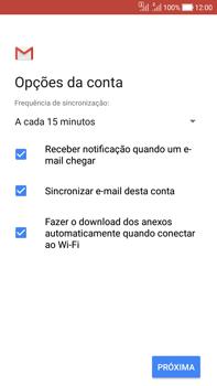 Como configurar seu celular para receber e enviar e-mails - Asus Zenfone Selfie - Passo 11