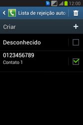 Como bloquear chamadas de um número específico - Samsung Galaxy Young - Passo 13