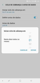 Como definir um aviso e limite de uso de dados - Samsung Galaxy J4+ - Passo 7