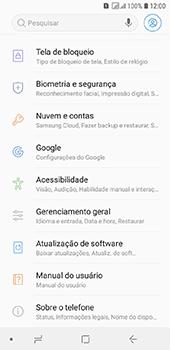 Como encontrar o número de IMEI do seu aparelho - Samsung Galaxy J6 - Passo 3