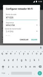 Como usar seu aparelho como um roteador de rede Wi-Fi - Motorola Moto Turbo - Passo 6