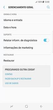 Como restaurar as configurações originais do seu aparelho - Samsung Galaxy S8 - Passo 5