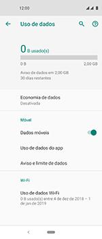 Como definir um aviso e limite de uso de dados - Motorola One Vision - Passo 5