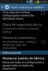 Como restaurar as configurações originais do seu aparelho - Samsung Galaxy Young - Passo 5