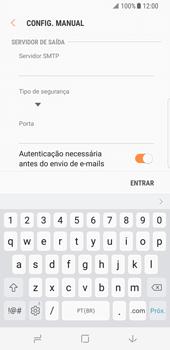 Como configurar seu celular para receber e enviar e-mails - Samsung Galaxy S8 - Passo 12