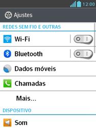 Como configurar uma rede Wi-Fi - LG Optimus L3 II - Passo 3