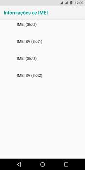 Como encontrar o número de IMEI do seu aparelho - Motorola Moto E5 - Passo 7