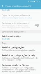 Como restaurar as configurações originais do seu aparelho - Samsung Galaxy S7 - Passo 6