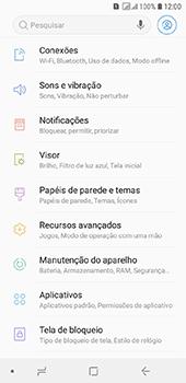 Como ativar e desativar o roaming de dados - Samsung Galaxy J6 - Passo 3