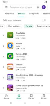 Como baixar aplicativos - Samsung Galaxy A10 - Passo 8