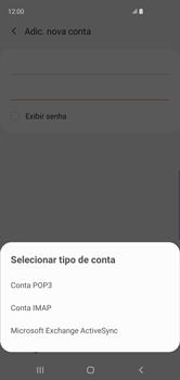 Como configurar seu celular para receber e enviar e-mails - Samsung Galaxy S10 - Passo 9