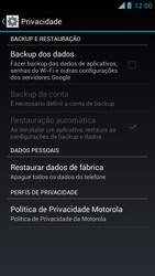 Como restaurar as configurações originais do seu aparelho - Motorola RAZR MAXX - Passo 5