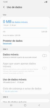 Como ativar e desativar uma rede de dados - Samsung Galaxy A20 - Passo 6
