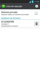 Como bloquear chamadas de um número específico - LG Optimus L5 - Passo 11