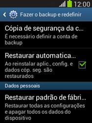Como restaurar as configurações originais do seu aparelho - Samsung Galaxy Pocket - Passo 5