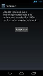 Como restaurar as configurações originais do seu aparelho - Motorola Moto X (1ª Geração) - Passo 7