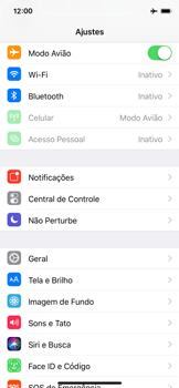 Como ativar e desativar o modo avião no seu aparelho - Apple iPhone X - Passo 3