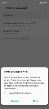 Como usar seu aparelho como um roteador de rede Wi-Fi - LG K62 - Passo 10