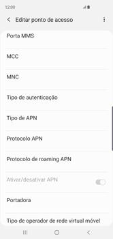 Como configurar a internet do seu aparelho (APN) - Samsung Galaxy S10 - Passo 10