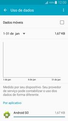 Como ativar e desativar uma rede de dados - Samsung Galaxy A5 - Passo 6