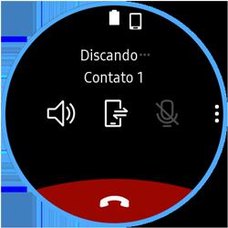 Como fazer uma ligação no Galaxy Watch - Samsung Galaxy Watch 3 - Passo 6