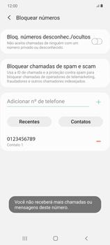 Como bloquear chamadas de um número específico - Samsung Galaxy Note 20 5G - Passo 11