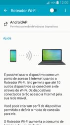 Como usar seu aparelho como um roteador de rede Wi-Fi - Samsung Galaxy A5 - Passo 5