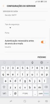 Como configurar seu celular para receber e enviar e-mails - Samsung Galaxy S9 Plus - Passo 10
