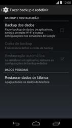 Como restaurar as configurações originais do seu aparelho - Motorola Moto E (1ª Geração) - Passo 5