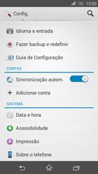 Como restaurar as configurações originais do seu aparelho - Sony Xperia E4G - Passo 4