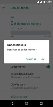 Como ativar e desativar uma rede de dados - Motorola Moto G6 Plus - Passo 6