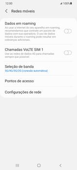 Como ativar e desativar o roaming de dados - Samsung Galaxy S21 Ultra 5G - Passo 5