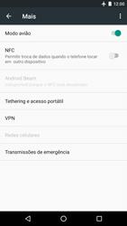 Como ativar e desativar o modo avião no seu aparelho - LG Google Nexus 5X - Passo 5