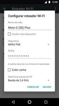 Como usar seu aparelho como um roteador de rede Wi-Fi - Motorola Moto G5s Plus - Passo 6