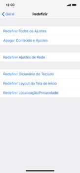 Como restaurar as configurações originais do seu aparelho - Apple iPhone X - Passo 5