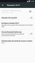 Como usar seu aparelho como um roteador de rede Wi-Fi - Motorola Moto C Plus - Passo 8