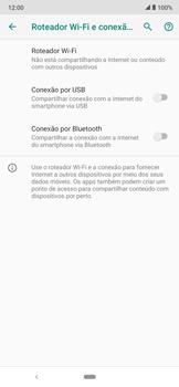 Como usar seu aparelho como um roteador de rede Wi-Fi - Motorola Moto E6 Plus - Passo 5