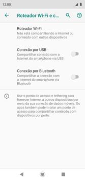 Como usar seu aparelho como um roteador de rede Wi-Fi - Motorola Moto G7 Play - Passo 5