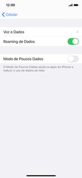 Como ativar e desativar o roaming de dados - Apple iPhone X - Passo 5