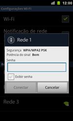Como configurar uma rede Wi-Fi - Samsung Galaxy S II - Passo 7