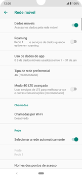 Como melhorar a velocidade da internet móvel - Motorola Moto E6 Plus - Passo 7