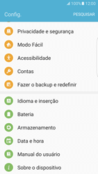 Como encontrar o número de IMEI do seu aparelho - Samsung Galaxy S7 Edge - Passo 3